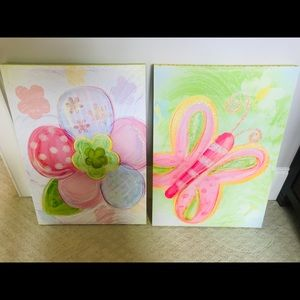 Pair of pastel canvases
